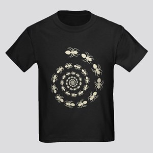 Ant Death Spiral Kids Dark T-Shirt